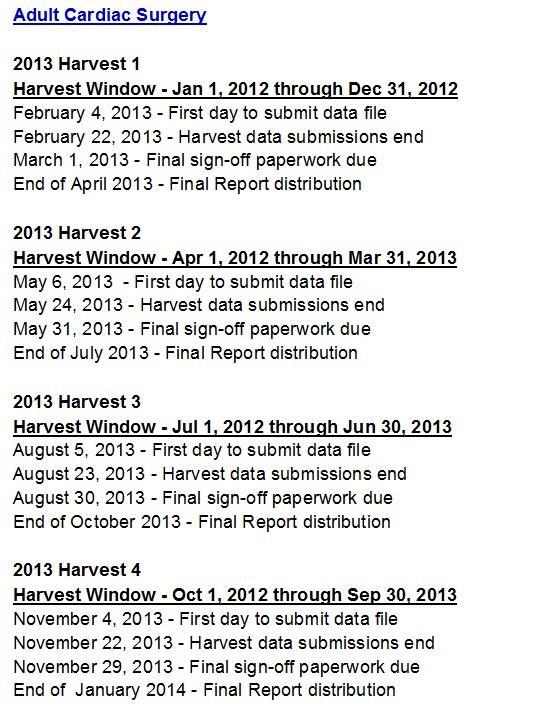 STS 2013 Schedule