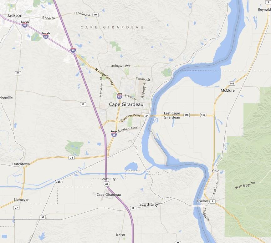 Map Cape gerardo