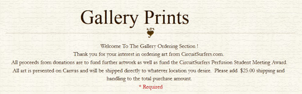Gallery order form
